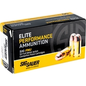 Sig Sauer Elite Performance Ball .38 Super 125 Gr. FMJ, 50 Rounds