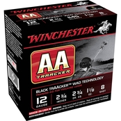 Winchester TrAAcker 12 Ga. 2.75 in. #8 Black Hull Shotshell, 25 Rounds