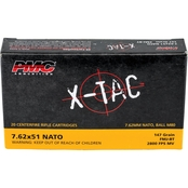 PMC X-TAC 7.62x51 NATO 147 Gr. FMJ, 20 Rounds