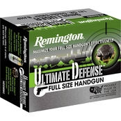 Remington Ultimate Defense 9mm 147 Gr. Brass Jacketed Hollow Point, 20 Rounds