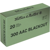 Sellier & Bellot .300 Blackout 147 Gr. FMJ, 20 Rounds
