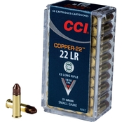 CCI .22 LR 21 Gr. Copper Lead Free, 50 Rounds