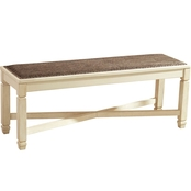 Signature Design by Ashley Bolanburg Large Upholstered Dining Bench