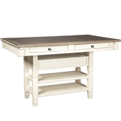Signature Design by Ashley Bolanburg Rectangular Counter Height Dining Table