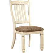 Signature Design by Ashley Bolanburg Upholstered Dining Chair, White 2 Pk.