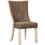 Signature Design by Ashley Bolanburg Upholstered Dining Chair, Brown 2 Pk.