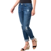 Michael Kors Denim Distressed Relaxed Jeans