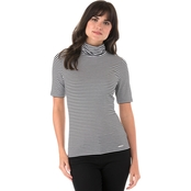 Michael Kors Striped Mock Neck Top
