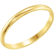 Karat Kids 14K Yellow Gold Youth Band Size 3