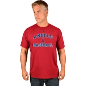 Majestic Athletic MLB Los Angeles Angels Heart and Soul Tee