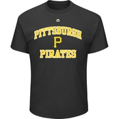 Majestic Athletic MLB Pittsburgh Pirates Heart and Soul Tee