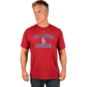 Majestic Athletic MLB St. Louis Cardinals Heart and Soul Tee