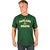Majestic Athletic MLB Oakland Athletics Heart and Soul Tee