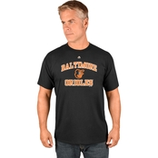 Majestic Athletic MLB Baltimore Orioles Heart and Soul Tee