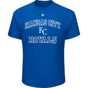 Majestic Athletic MLB Kansas City Royals Heart and Soul Tee