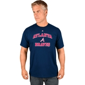 Majestic Athletic MLB Atlanta Braves Heart and Soul Tee