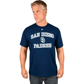 Majestic Athletic MLB San Diego Padres Heart and Soul Tee