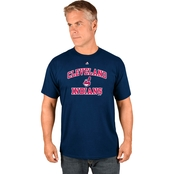Majestic Athletic MLB Cleveland Indians Heart and Soul Tee
