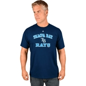 Majestic Athletic MLB Tampa Bay Rays Heart Soul Tee