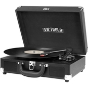 Victrola Suitcase Bluetooth Record Player with 3-Speed Turntable