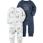 Carter's Infant Boys Babysoft Peanut Coveralls 2 Pk.