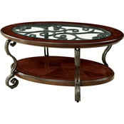 Furniture of America May Coffee Table With Wheels