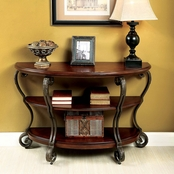 Furniture of America May Sofa Table With Wheels