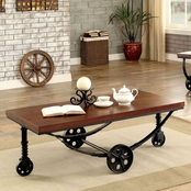 Furniture of America Coffee Table With Wheels