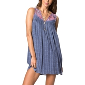 O'Neill Juniors Clara Woven Tank Dress With Lace Detail