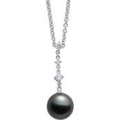Blue Lagoon by Mikimoto 14K White Gold 9mm Black South Sea Pearl Pendant