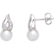 Blue Lagoon by Mikimoto 14K White Gold 6.5mm Cultured Akoya Pearl Earrings