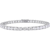 Sofia B. Sterling Silver 14 1/4 CTW Created White Sapphire Bracelet