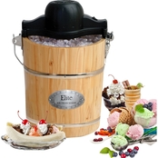 Elite Gourmet 6 Qt. Old Fashioned Ice Cream Maker