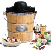 Elite Gourmet 4 Qt. Old-Fashioned Ice Cream Maker