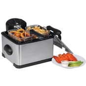 Elite Platinum 4 Qt. Dual Basket Deep Fryer