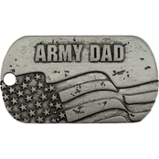Shields of Strength Military Dad Antique Finish Dog Tag Necklace, Joshua 1:9