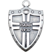 Shields of Strength Isaiah 54:17 Antique Finish Battle Shield