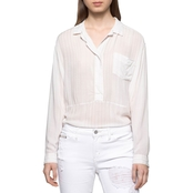 Calvin Klein Jeans Stripe Whisper Weight Popover