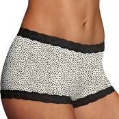 Maidenform Classic Microfiber and Lace Boyshorts
