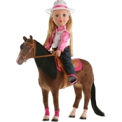 Paradise Kids 18 In. Blonde Cowgirl and Horse