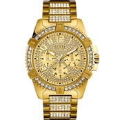 Guess Men's Stainless Steel Crystal Dress Watch U0799G2