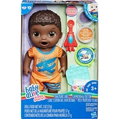Baby Alive Super Snacks Snackin' Luke Baby Doll, Black Hair