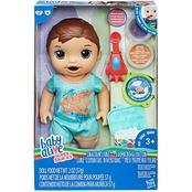 Baby Alive Super Snacks Snackin' Luke Baby Doll, Brunette