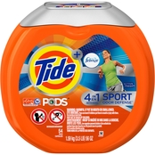 Tide Pods Plus Febreze Odor Defense Active Fresh Laundry Detergent 54 Pk.