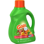 Gain Tropical Sunrise HE Liquid Laundry Detergent 100 Oz.
