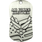 Shields of Strength Air Force Brother Dog Tag Necklace, 2 Chronicles 32:8