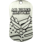 Shields of Strength Air Force Brother Antique Dog Tag Necklace, 2 Chronicles 32:8