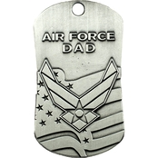 Shields of Strength Air Force Dad Antique Finish Dog Tag Necklace, Isaiah 40:31