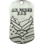 Shields of Strength Air Force Dad Antique Finish Dog Tag Necklace Isaiah 40:31