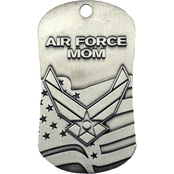 Shields of Strength Air Force Mom Antique Finish Dog Tag Necklace, Isaiah 40:31